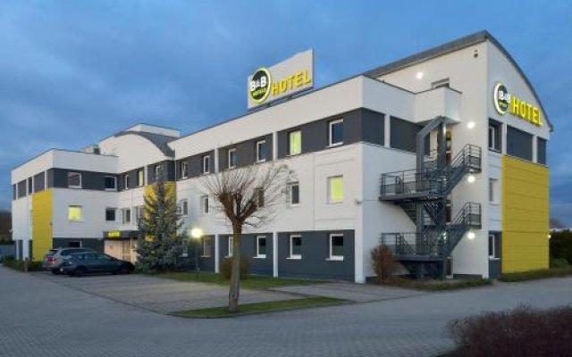 Отель B&B Hotel Leipzig-Nord Германия, Нордост - отзывы, цены и фото номеров - забронировать отель B&B Hotel Leipzig-Nord онлайн вид на фасад