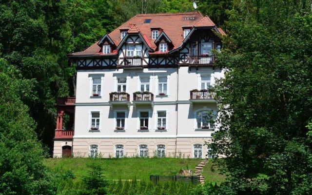 Отель Sant Georg Garni Чехия, Марианске-Лазне - отзывы, цены и фото номеров - забронировать отель Sant Georg Garni онлайн вид на фасад