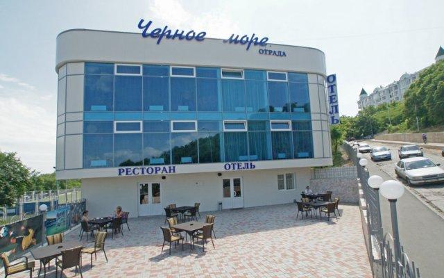 Гостиница Черное Море Отрада вид на фасад