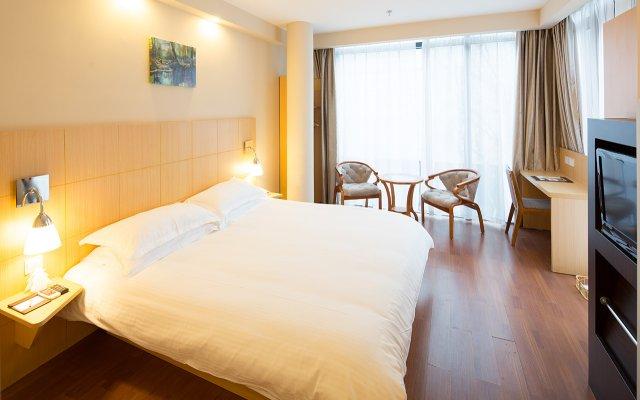 Warmly Boutique Hotel Suzhou Jinji Lake Ligongdi Branch комната для гостей