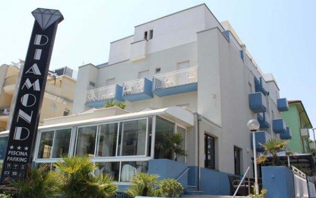 Отель Diamond Италия, Римини - отзывы, цены и фото номеров - забронировать отель Diamond онлайн вид на фасад