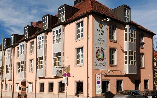 Отель Golden Leaf Hotel Altmünchen Германия, Мюнхен - 6 отзывов об отеле, цены и фото номеров - забронировать отель Golden Leaf Hotel Altmünchen онлайн вид на фасад