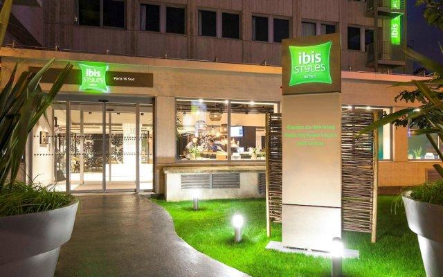 Отель Ibis Styles Paris 16 Boulogne Париж вид на фасад