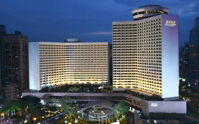 LN Garden Hotel Guangzhou Гуанчжоу вид на фасад
