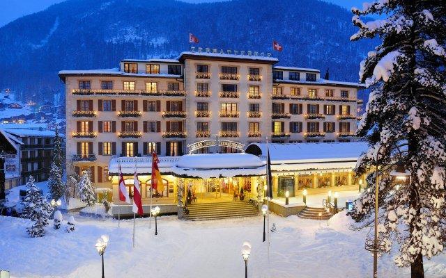 Grand Hotel Zermatterhof вид на фасад