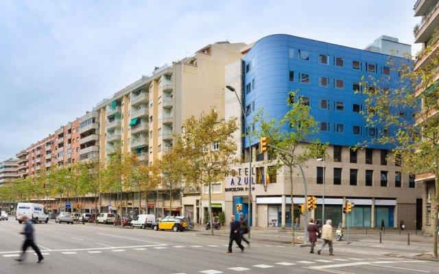 Hotel Acta Azul Барселона вид на фасад