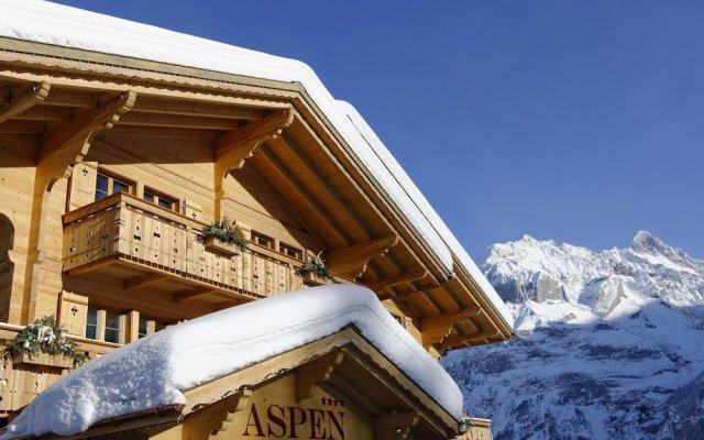 Отель Aspen alpin lifestyle hotel Grindelwald Швейцария, Гриндельвальд - отзывы, цены и фото номеров - забронировать отель Aspen alpin lifestyle hotel Grindelwald онлайн вид на фасад