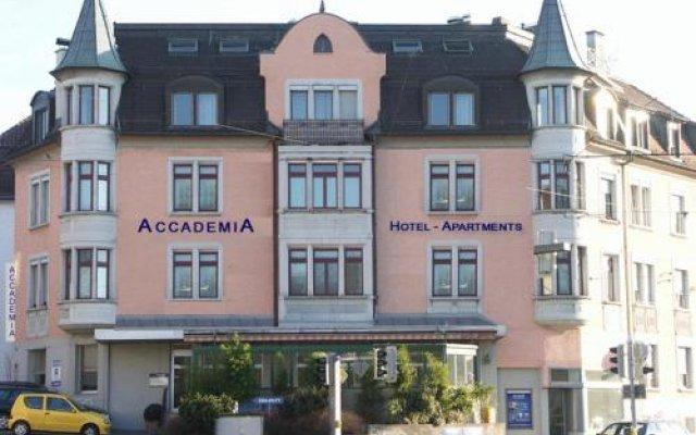 Апартаменты Accademia Apartments Цюрих вид на фасад