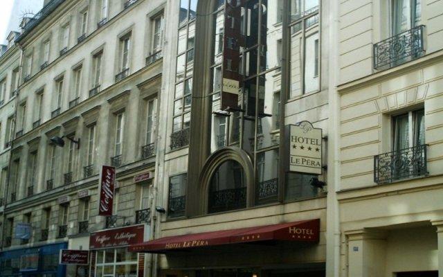 Отель Le Pera Париж вид на фасад