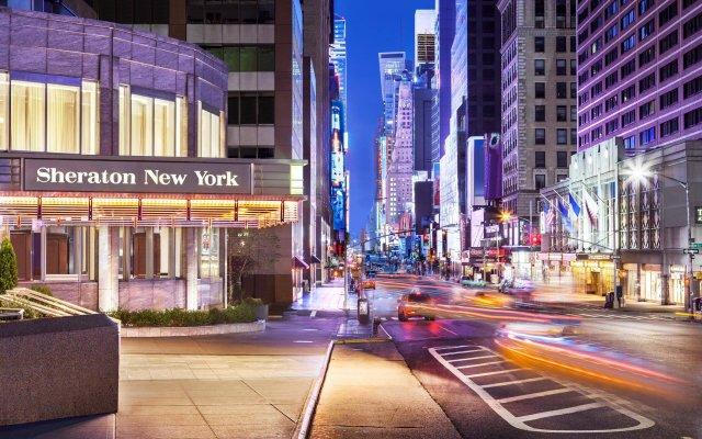 Отель Sheraton New York Times Square Hotel США, Нью-Йорк - 1 отзыв об отеле, цены и фото номеров - забронировать отель Sheraton New York Times Square Hotel онлайн вид на фасад