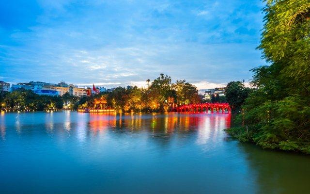Sao Bang Hotel Ханой приотельная территория