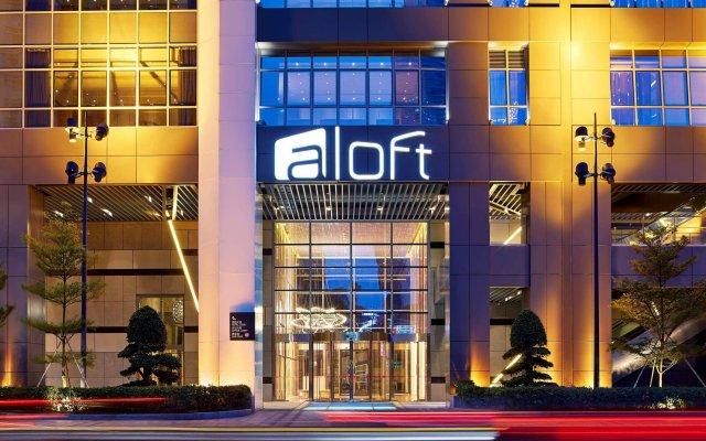 Отель Aloft Guangzhou Tianhe вид на фасад