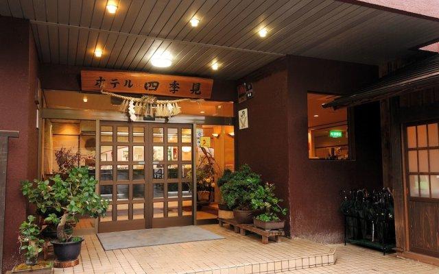 Hotel Shikimi Такатихо вид на фасад