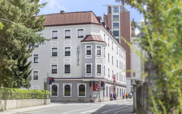 Отель Der Salzburger Hof Австрия, Зальцбург - 1 отзыв об отеле, цены и фото номеров - забронировать отель Der Salzburger Hof онлайн вид на фасад