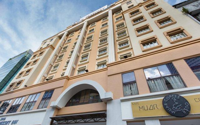 Отель Prescott Hotel KL Medan Tuanku Малайзия, Куала-Лумпур - 1 отзыв об отеле, цены и фото номеров - забронировать отель Prescott Hotel KL Medan Tuanku онлайн вид на фасад
