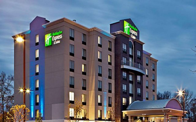 Holiday Inn Express Hotel & Suites Columbus - Polaris Parkway Колумбус вид на фасад