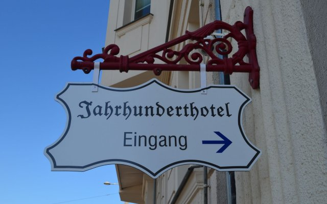 Отель Jahrhunderthotel Leipzig вид на фасад