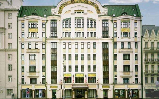 Гостиница Марриотт Москва Тверская вид на фасад