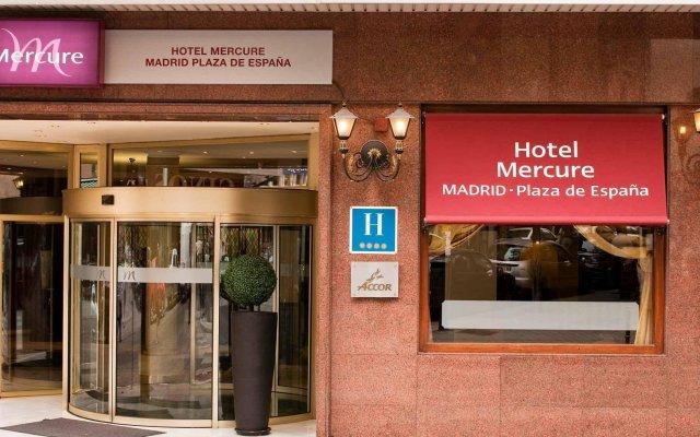 Отель Mercure Madrid Plaza De Espana Мадрид вид на фасад