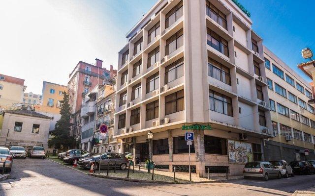Botânico Hotel Лиссабон вид на фасад