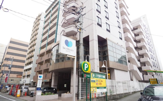 Отель Sky Court Hakata Хаката вид на фасад