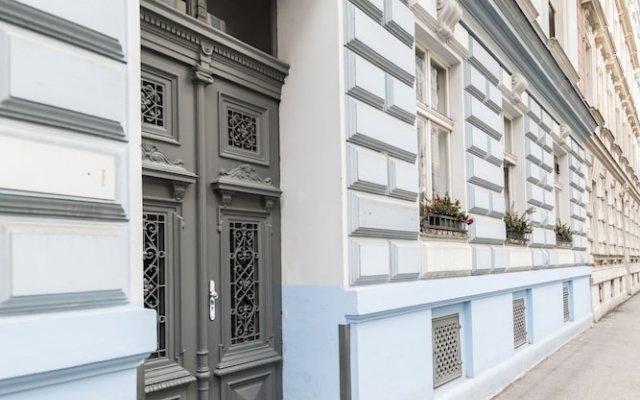 Апартаменты Blauhouse Apartments Вена вид на фасад