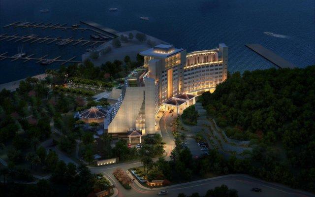 Отель Hilton Shenzhen Shekou Nanhai вид на фасад