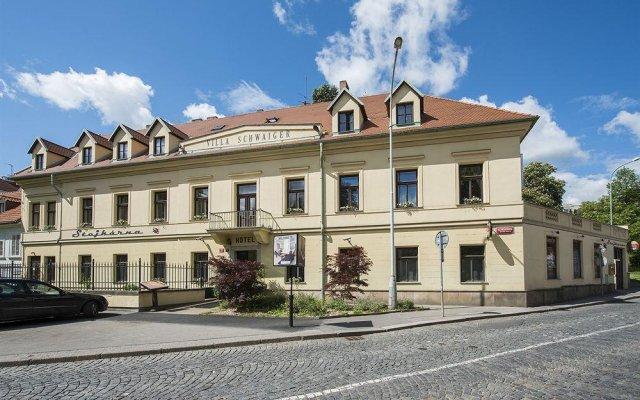 Отель SCHWAIGER Прага вид на фасад