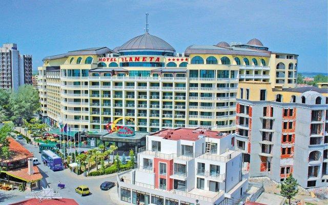 Planeta Hotel & Aqua Park Солнечный берег вид на фасад