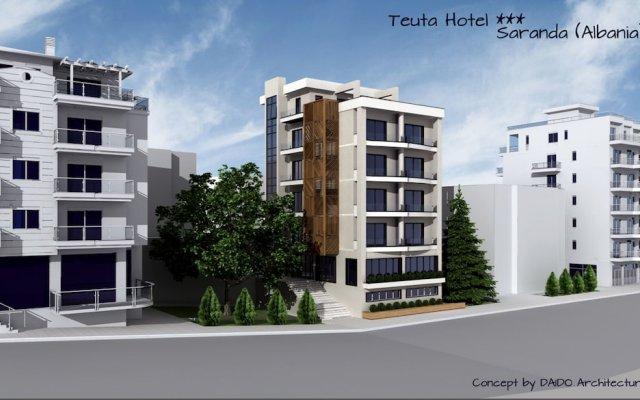 Hotel Teuta Саранда вид на фасад