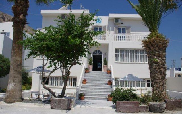 Отель Kamari Blu Греция, Остров Санторини - отзывы, цены и фото номеров - забронировать отель Kamari Blu онлайн вид на фасад