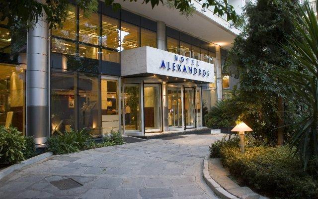 Отель Airotel Alexandros Афины вид на фасад