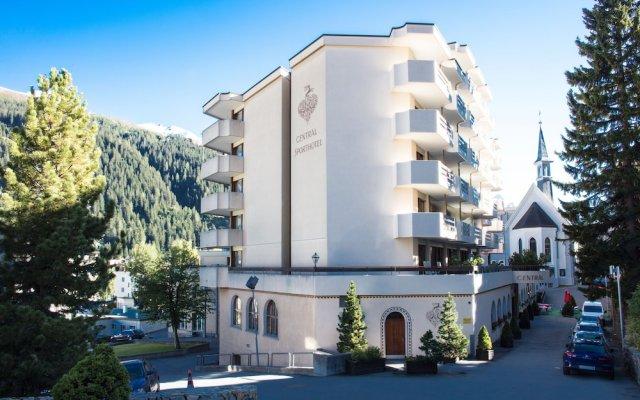 Отель Central Swiss Quality Sporthotel Швейцария, Давос - отзывы, цены и фото номеров - забронировать отель Central Swiss Quality Sporthotel онлайн вид на фасад