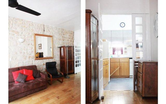 Апартаменты Studio Apartments Rue De La Harpe Париж комната для гостей