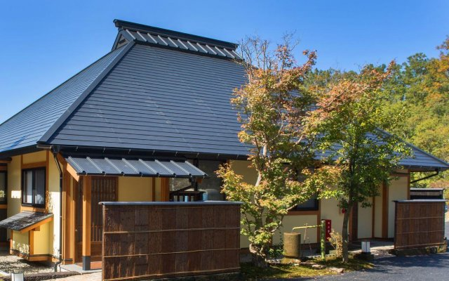 Отель Ryokan Miyama Sansou Минамиогуни вид на фасад