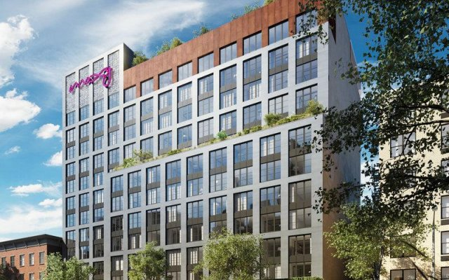 Отель Moxy NYC East Village США, Нью-Йорк - отзывы, цены и фото номеров - забронировать отель Moxy NYC East Village онлайн вид на фасад