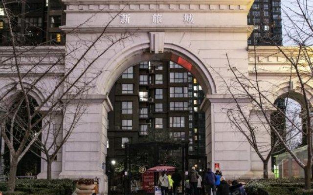 Отель Xiaoqi Yizhan Xi'an Dayanta Xinlvcheng Китай, Сиань - отзывы, цены и фото номеров - забронировать отель Xiaoqi Yizhan Xi'an Dayanta Xinlvcheng онлайн вид на фасад