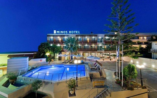Minos Hotel вид на фасад