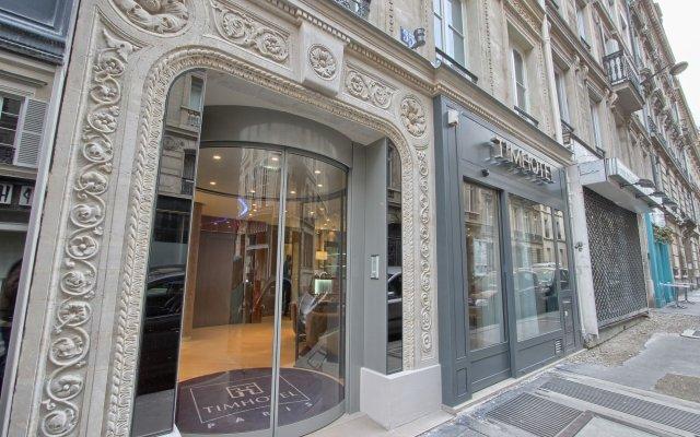 Отель Timhotel Opera Grands Magasins Париж вид на фасад