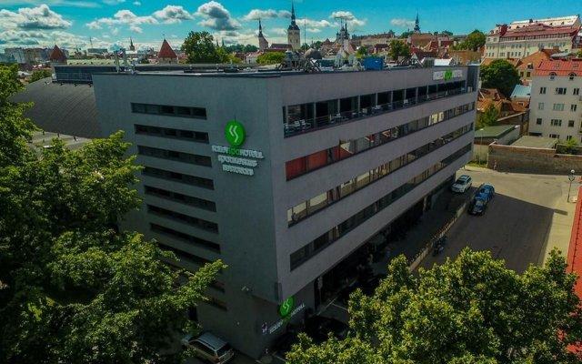 Отель Kalev Spa Hotel & Waterpark Эстония, Таллин - - забронировать отель Kalev Spa Hotel & Waterpark, цены и фото номеров вид на фасад