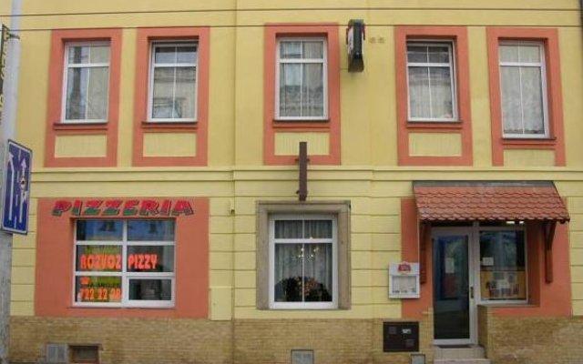 Отель Pension Antica Пльзень вид на фасад