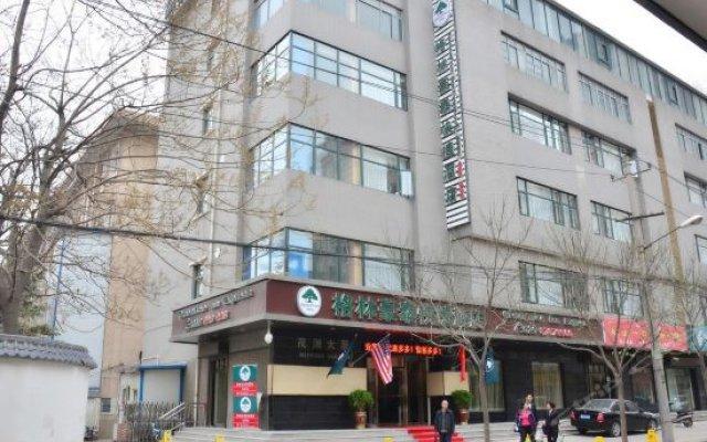 Отель Green Tree Inn Xian East Xiaozhai Road Dayanta Express Hotel Китай, Сиань - отзывы, цены и фото номеров - забронировать отель Green Tree Inn Xian East Xiaozhai Road Dayanta Express Hotel онлайн вид на фасад