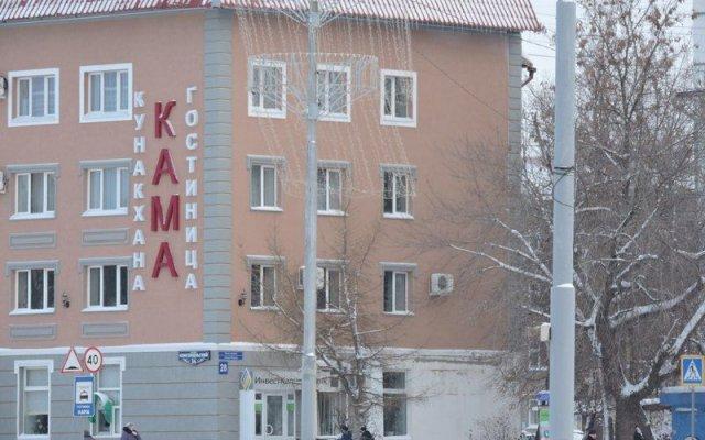 Гостиница Кама в Нефтекамске отзывы, цены и фото номеров - забронировать гостиницу Кама онлайн Нефтекамск вид на фасад