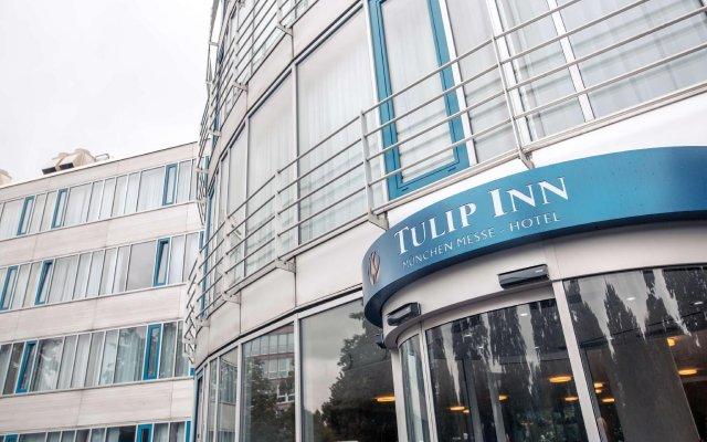 Отель Tulip Inn Muenchen Messe Мюнхен вид на фасад