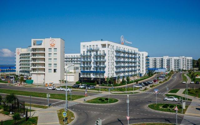 Гостиница Апарт-отель Имеретинский —Прибрежный квартал в Сочи - забронировать гостиницу Апарт-отель Имеретинский —Прибрежный квартал, цены и фото номеров вид на фасад