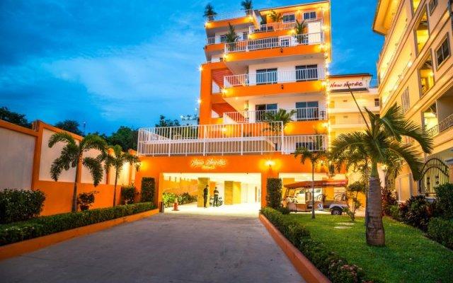 Апартаменты Sunset Apartments Паттайя вид на фасад