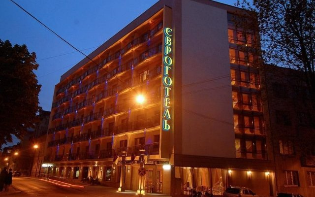 Гостиница Євроотель вид на фасад
