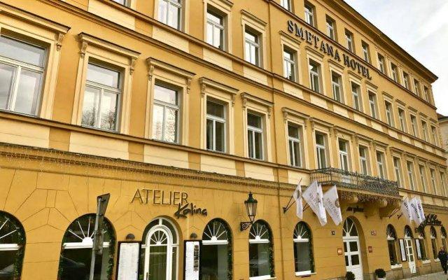 Отель Smetana Hotel Чехия, Прага - отзывы, цены и фото номеров - забронировать отель Smetana Hotel онлайн вид на фасад