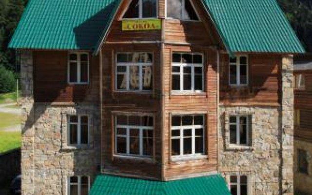 Гостиница Sokol Hotel на Домбае отзывы, цены и фото номеров - забронировать гостиницу Sokol Hotel онлайн Домбай вид на фасад