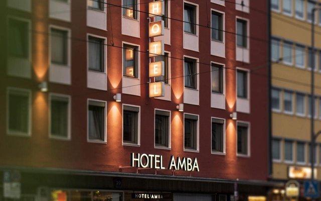 Hotel Amba Мюнхен вид на фасад